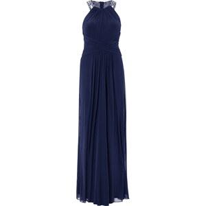 Luxuar Abendkleid mit Rückenausschnitt und Ziersteinen
