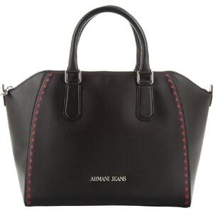 Armani Jeans Sacs portés main, Perforated PVC Top Handle Bag Black en noir