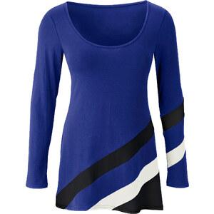 Tunika-Shirt langarm in blau für Damen von bonprix