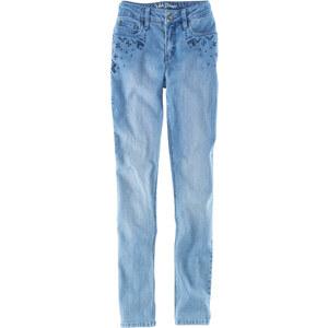John Baner JEANSWEAR Stretch Jeans SKINNY mit Stickerei in blau für Damen von bonprix