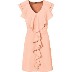 BODYFLIRT Kleid/Sommerkleid kurzer Arm in rosa (V-Ausschnitt) von bonprix
