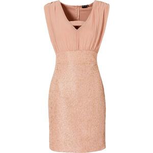BODYFLIRT Shirtkleid ohne Ärmel figurbetont in rosa (Rundhals) von bonprix