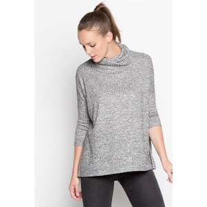 Pull manches longues col roulé Gris Polyester - Femme Taille 0 - Cache Cache