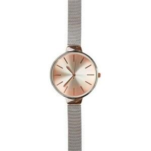 New Look Uhr mit schmalem, silberfarbenem Netzarmband