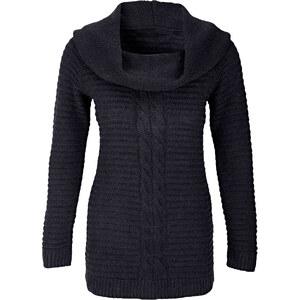 BODYFLIRT Longpullover in schwarz für Damen von bonprix
