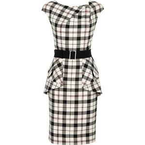 Kleid/Sommerkleid kurzer Arm in weiß von bonprix
