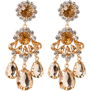 sweet deluxe BURGAS Boucles d'oreilles goldcoloured/crystal/topaz