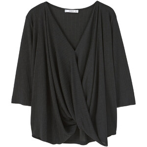 MANGO T-Shirt Col Drapé