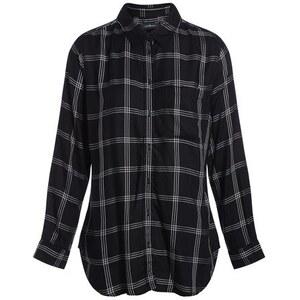 Chemise manches longues carreaux Noir Viscose - Femme Taille 1 - Cache Cache