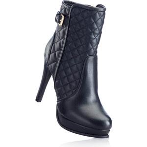 BODYFLIRT Bottines noir avec 11,5 cm haut talonchaussures & accessoires - bonprix