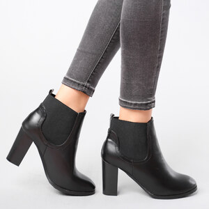 Lesara Boots Chelsea avec talon bloc