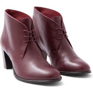 Boots Femme Cuir À Talons Somewhere, Couleur Figue