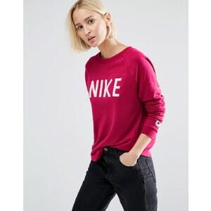 Nike - Sweat à col ras du cou et logo - Rouge