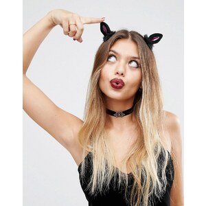 ASOS - Halloween - Barrettes à motif oreille de chat - Multi