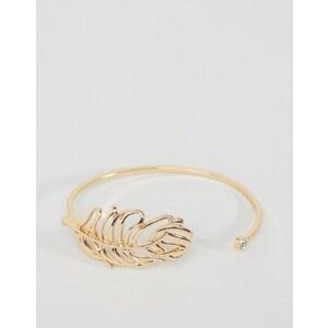 ASOS - Bracelet ouvert motif feuille - Doré