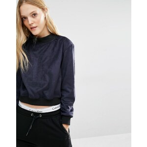 Calvin Klein - Sweat griffé à encolure montante - Noir