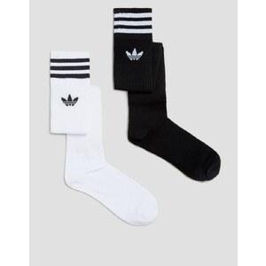 Adidas Originals - Chaussettes hauteur Genou à 3 bandes - Blanc