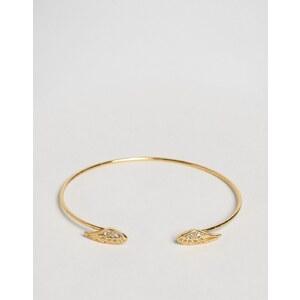 Orelia - Bracelet jonc ouvert motif aile - Doré