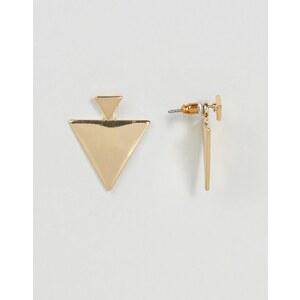 ASOS - Boucles d'oreilles balanciers à triangle plat en métal - Doré