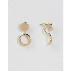 ASOS - Boucles d'oreilles balanciers avec cercle évidé - Doré