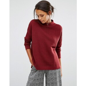 Selected - Laua - Pull en maille oversize - Rouge
