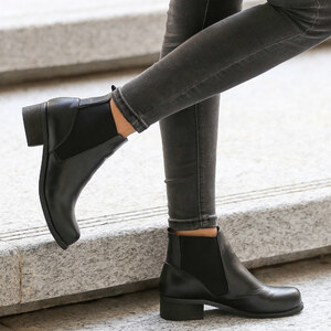 Lesara Bottines chelsea en imitation cuir