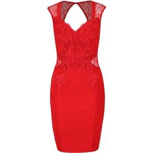 de41bc56d465 Červené puzdrové šaty s čipkou Lipsy - Glami.sk