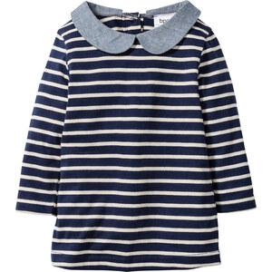 bpc bonprix collection Robe bébé manches longues en coton bio bleu enfant - bonprix