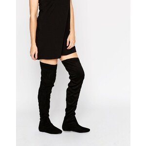 London Rebel - Stretch-Overknee-Stiefel - Schwarz