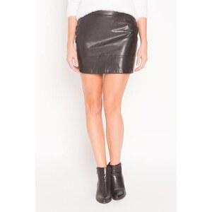 Jupe courte simili cuir Noir Synthetique (polyurethane) - Femme Taille 34 - Cache Cache