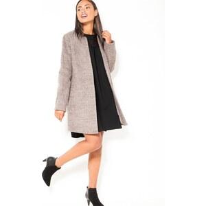 Camaïeu Manteau long sans col en laine