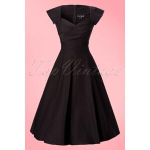Stop Staring! 50s Mad Men Swing Dress in Black
