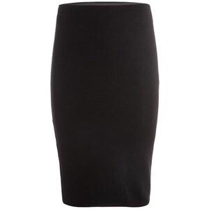 Jupe crayon ottoman plissée Noir Elasthanne - Femme Taille 36 - Cache Cache