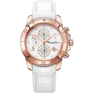Thomas Sabo Damenuhr ´´GLAM CHRONO´´ weiß WA0203-269-202-40 mm