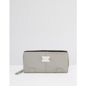 Modalu - Pippa - Grand portefeuille en cuir - Gris