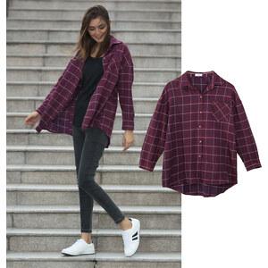 Lesara Chemise à carreaux oversize