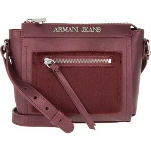 Armani Jeans Sacs à Bandoulière, PVC Haircalf Crossbody Bag Bordeaux en rouge