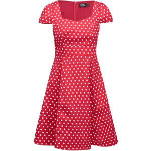 fd61e00df130 Čierne bodkované šaty s krátkym rukávom Dolly   Dotty Claudia - Glami.sk