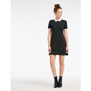 robe avec col blanc noire Jennyfer
