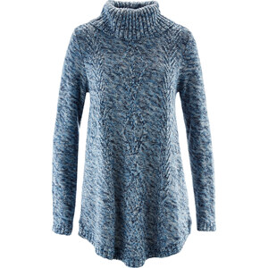 bpc bonprix collection Pull poncho manches longues bleu femme - bonprix