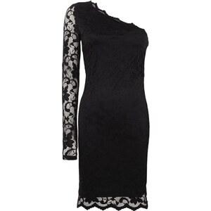 Vila One-Shoulder-Kleid aus floraler Spitze