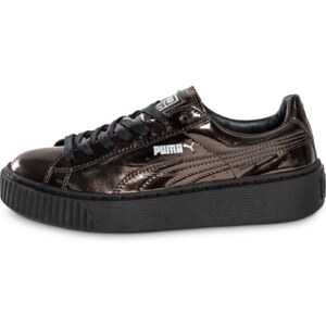 Puma Baskets/Tennis Basket Platform Metallic Bronze Femme