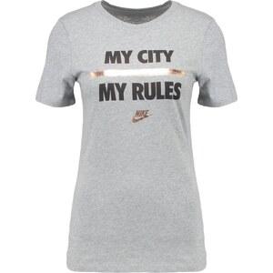 Nike Sportswear Tshirt imprimé dark grey heather/black