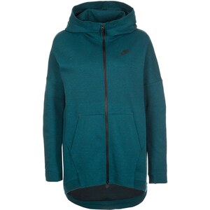 Nike Sportswear TECH FLEECE CAPE Sweat zippé midnight turquoise/heather/black