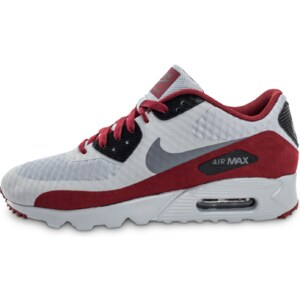 Nike Baskets/Running Air Max 90 Ultra Essential Grise Et Bordeaux Homme