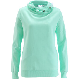 bpc bonprix collection Sweat-shirt vert manches longues femme - bonprix