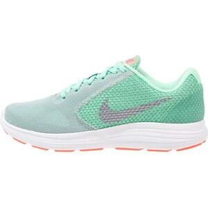 Nike Performance REVOLUTION 3 Chaussures de running neutres cannon/metallic cool grey/green glow/bright mango/white