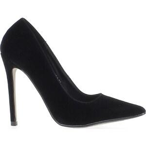Chaussmoi Chaussures escarpins Escarpins noirs à talons aiguille de 11,5cm bouts pointus aspect