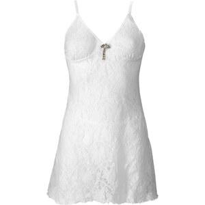 BODYFLIRT Spitzenkleid mit Brosche + String (3-tlg. Set) in weiß für Damen von bonprix