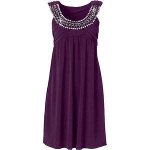 BODYFLIRT Shirtkleid ohne Ärmel in lila (Rundhals) von bonprix